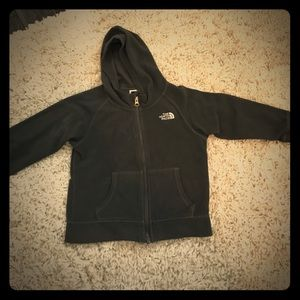 The North Face grey fleece size 4t